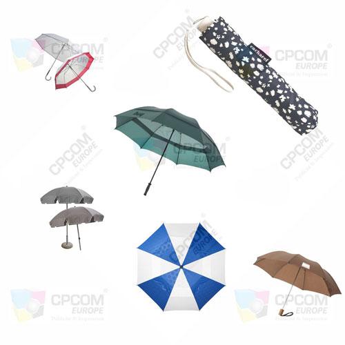 Des parapluies publicitaires comme s'il en pleuvait !