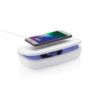 Stérilisateur UV-C multifonctionnel publicitaire avec chargeur à induction 5W